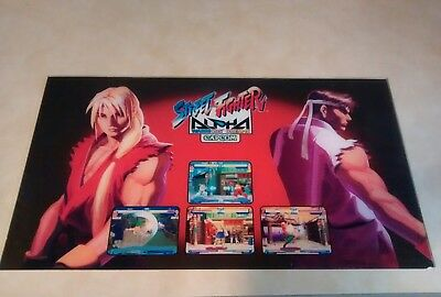 """STREET FIGHTER ALPHA  GIANT CAPCOM   27 - 15 1/4"""" arcade game sign marquee"""