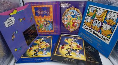 MINT 6 Complete Disney Sets! PHONE CARD PRESENTATION FOLDERS mickey goofy donald