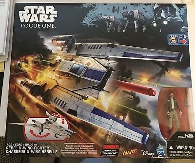 Star Wars Nerf Rogue One Rebel U-Wing Fighter Cassian Andor NEW IN BOX