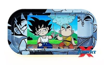 BACKWOODS - GOKU & KRILLIN DBZ Cigarette Tobacco Metal Small Rolling Tray 4x8