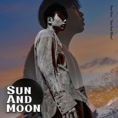 SAM KIM [Sun And Moon] 1st Album. CD+Lenticular Card+Photo Book Sealed K-POP