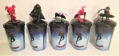 Spider-Man Into the Spider-Verse Movie Theater Exclusive Cup Topper Set 12 oz Cu