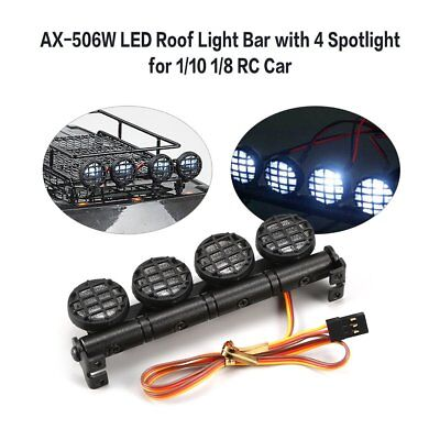 AX-506W Multi-function Roof Light Bar LED Lamp Spotlights for 1/10 1/8 RC Car HY