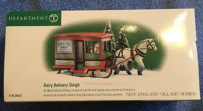 DEPT 56 New England Village - Dairy Delivery Sleigh - 56.56622