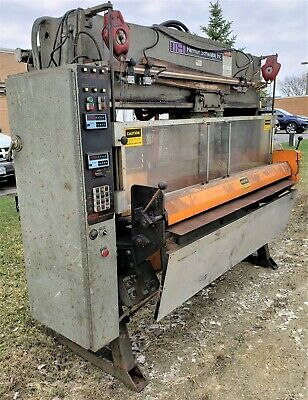 HERMAN SCHWABE Traveling Rotary Die Head Cutting / Impression Press w/Auto Feed