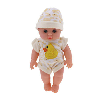 Realistic Silicone Baby Doll Vinyl Lifelike Baby in Jumpsuit 30cm/12inch