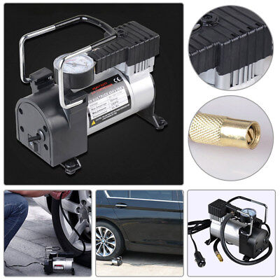 12V Car Tire Inflator Pump Air Compressor Heavy Duty Portable Air Pump RV Auto