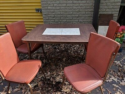 Vintage 1950s Retro Queen City Dinettes Table And  Chairs PICK UP