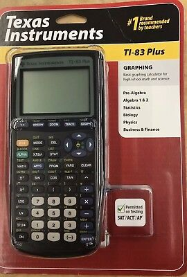 Texas Instruments TI 83 Plus Graphing Calculator Brand New Sealed Free Ship