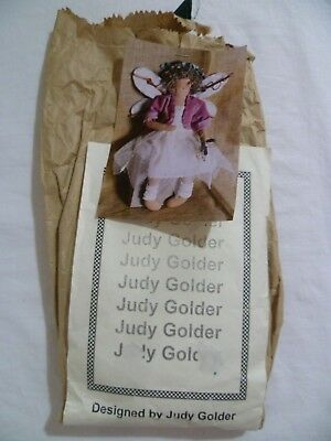Judy Golder WOODLAND FAIRY Cloth Doll Sewing Kit Pattern Fabric Trim COMPLETE