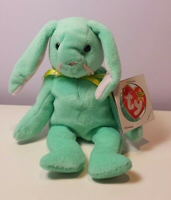 77744d25fe6 NWT MINT HIPPITY the Green Rabbit Ty Beanie Baby 3rd Gen tush new with tag