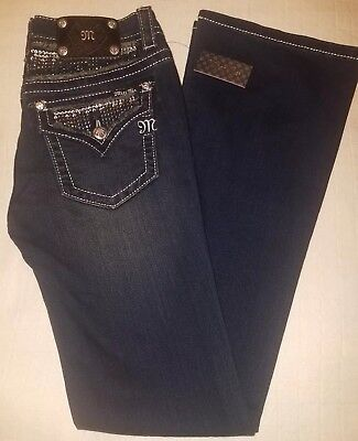 Miss Me Boot Signature Rise Boot Jeans Size 30 JP5589B Bling Bejeweled New
