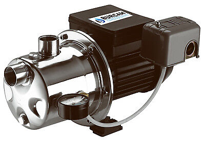 Shallow Well Jet Pump, Stainless Steel, 3/4-HP