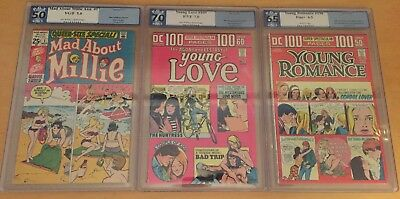 3 PGX Lot- Millie Special 1 By Stan Lee, Young Love 109, Young Romance 198