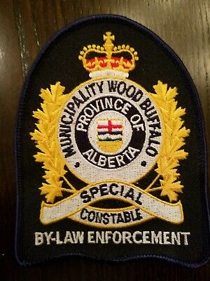 Special Constable By-Law Enforcement Wood Buffalo Alberta CA Police Patch