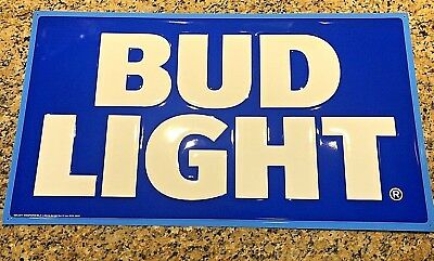 *NEW* BUD LIGHT - METAL PUB BEER SIGN (Newest Style) TIN