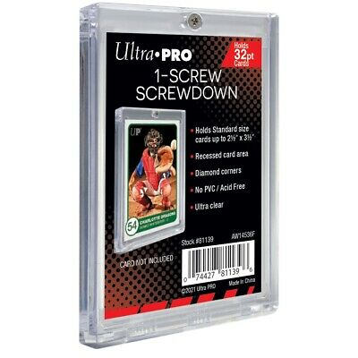 Ultra PRO Screwdown 32pt Card Display Holder Protector Single 1-Screw