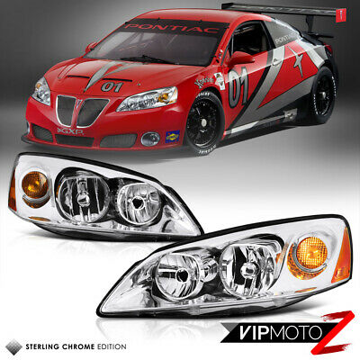 05 10 Pontiac G6 Gt Gtp Gxp Crystal Clear Chrome Headlight Embly Left Right