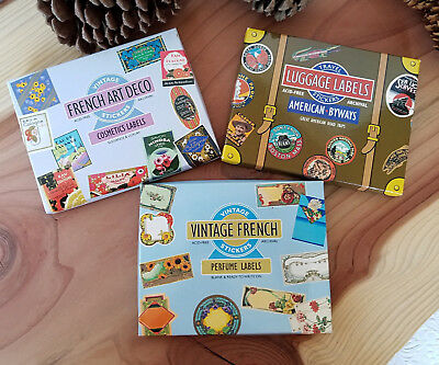 Stickers - NEW- Vintage French Perfume, Cosmetic & Travel Labels