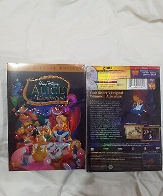 Alice in Wonderland DVD Disney 2010 2-Disc Special Edition New Sealed