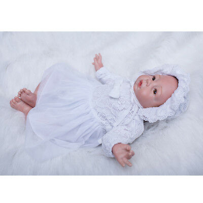 Baoblaze Doll Clothes Set Lace Dress and Hat For 20-22'' Reborn Dolls Baby