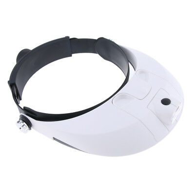 Baoblaze 2 LED Headband Magnifier Glasses with 1.0x 1.5x 2.0x 2.5x 3.5x Lens