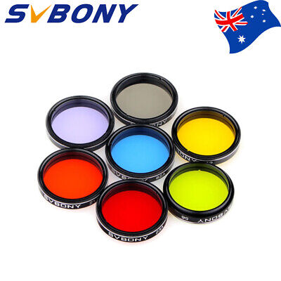 SVBONY 1.25 inch Telescope Filters set-5 Color Filters+Moon Filter+CPL Filter AU