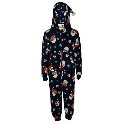 Kids Girls Boys Xmas Father Santa Claus Costume Extra Soft A2Z Onesie One Piece