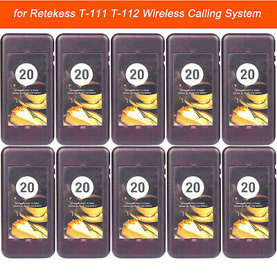 10PCS Wireless Calling Coaster Pager Receiver for Restaurant Queuing System US