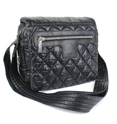 abd89df870a1 CHANEL Coco Cocoon Black Quilted Nylon Crossbody Shoulder Bag  43715 from  Japan