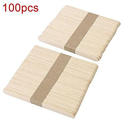 100pcs médic Langue en bois à usage unique Abaisse Sticks fartage Spatule Cire