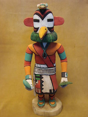 "Hopi Indian Hand Carved ""Sun Turkey"" Kachina by Elmer Adams! Native American"