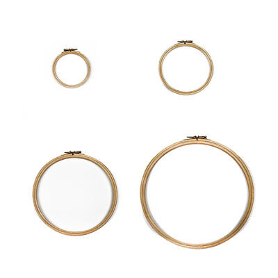 """Elbesee Beechwood Embroidery Cross Stitch Hoops Sizes 5"""" 6"""" 8"""" & 10"""""""