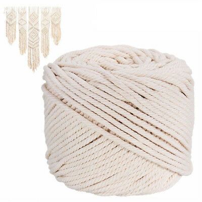 5/6mm Macrame Rope Natural Off White Cotton Twisted Cord Artisan DIY Craft