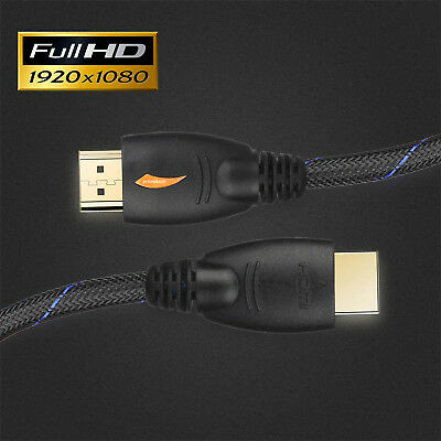 6FT 1.8M | 1080p@60Hz HDMI Nylon Cable 4K 3D V1.4 for LCD DVD HDTV (1-10Pack)lot