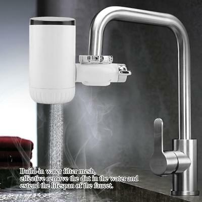 220V Electric Faucet Tap Hot Water Heater Instant Heating Bathroom Kitchen Home