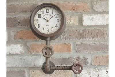 'Old Town Clocks' Single Clock with Industrial Pipework ~ Wall Clock