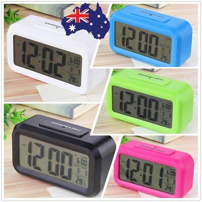 Led Digital Electronic Alarm Clock Backlight Time With Calendar+Thermometer EM