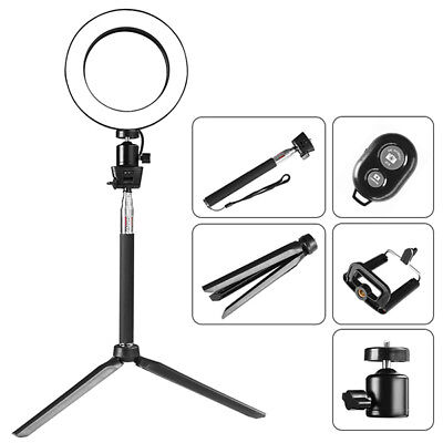 LED Studio Ring Light Photo Video Dimmable Lamp Kit For Camera Phone Practical
