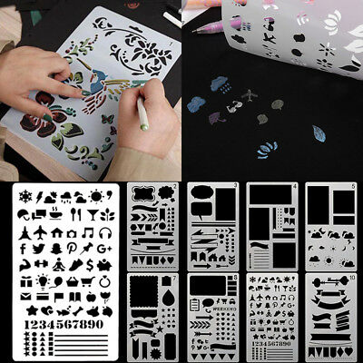 12/20X Bullet Journal Stencil Plastic Planner Template Diary DIY Draw Scrapbook