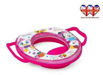 Disney Minnie Mouse Kids Soft Padded Potty Toilet Training Seat with Handles
