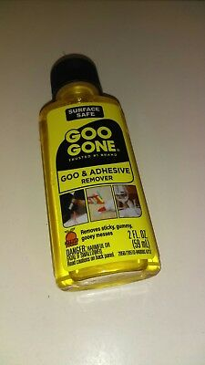Lot - 2 Magic Goo Gone Citrus Solvent Removes Gum Grease Stickers Tar - 2oz Each