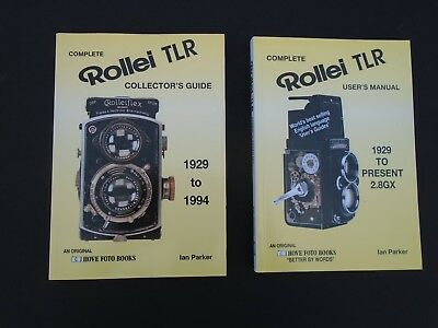 Rolleiflex Complete Rollei TLR Collectors Guide and User's Manual. Two books.