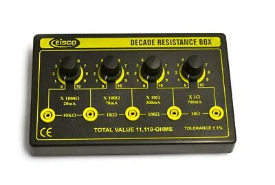 Eisco Labs 4 Decade Resistance Box, Variable from 0-11,110 Ohms, 0.5W...