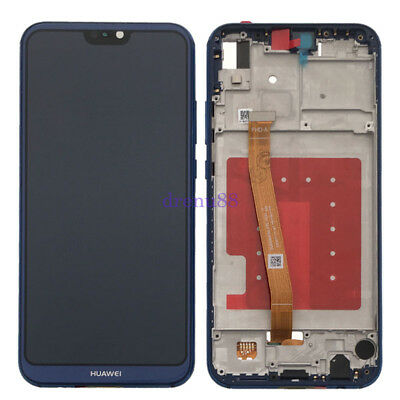 Blu Huawei P20 Lite Touch Digitizer Screen VETRO + LCD Display Assembly + Telaio