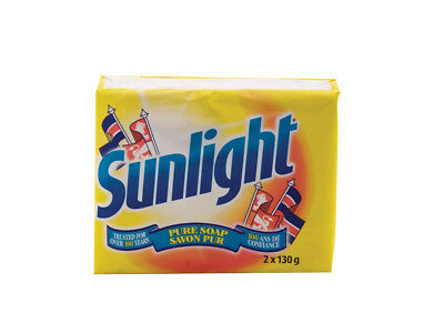 Sunlight Soap Bars Stain Remover & Surface Cleaner  2 x 130g