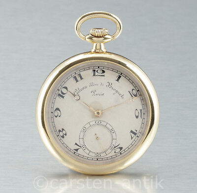 Giteau, Eleve de Breguet Parisian Anchor Chronometer 1890 Pocket watch