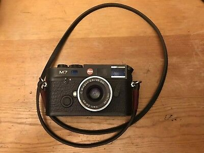 Leica M7 35mm .72 Rangefinder Film Camera Body lens zeiss c biogon 35mm 2.8 zm