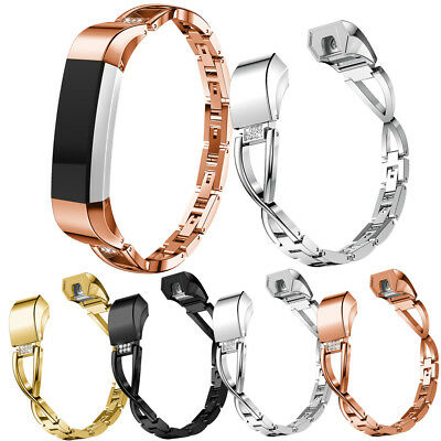 For Fitbit Charge 2 / HR/Charge 3 Bling Metal Wrist Band Wristband Watch Strap