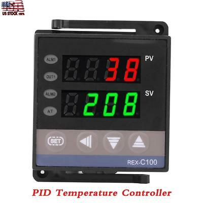 100-240V Digital PID Temperature Controller Thermostat REX-C100 Thermocouple